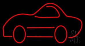 Red Car Logo Neon Sign