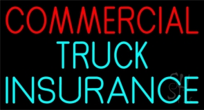 Commercial Truck Insurance Block Neon Sign