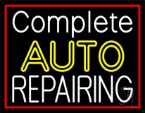 Complete Auto Repairing Red Border Neon Sign