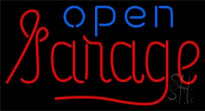 Garage Open Neon Sign