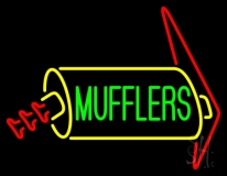 Green Mufflers Neon Sign