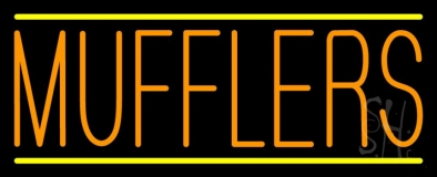 Orange Mufflers Yellow Lines Neon Sign