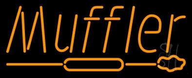 Orange Muffler With Logo LED Neon Sign