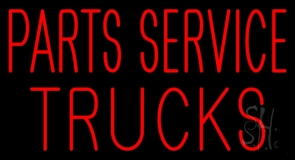 Red Parts Service Trucks Neon Sign