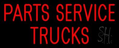 Parts Service Trucks Neon Sign