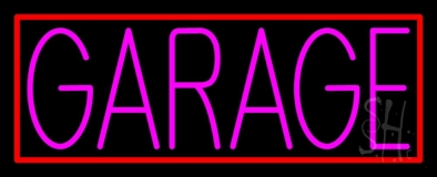 Pink Garage Block Neon Sign