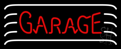 Red Garage Block Neon Sign