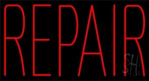 Red Repair Neon Sign