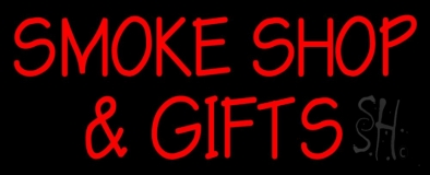 Red Smoke Shop And Gifts LED Neon Sign