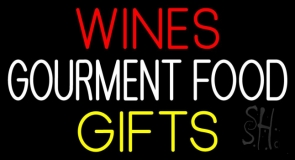 Red Wines Food Gifts Neon Sign