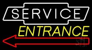 Service Entrance LED Neon Sign
