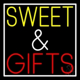 Sweet And Gifts With White Border LED Neon Sign