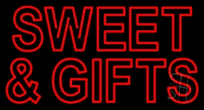 Sweets And Gifts Red LED Neon Sign