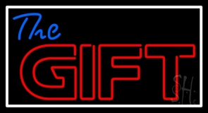 The Gift With Border LED Neon Sign