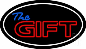 The Gift With White Border Neon Sign