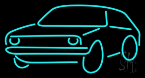 Turquoise Car Logo Neon Sign
