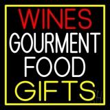 Wines Food Yellow Gifts Neon Sign