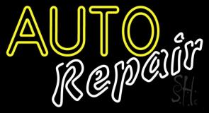 Yellow Auto White Repair Neon Sign