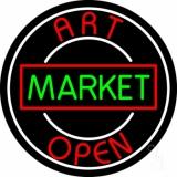 Art Market Open 1 Neon Sign