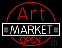 Art Market Open Neon Sign