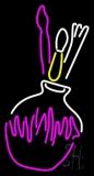 Art Material In Pot Neon Sign