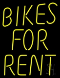 Bikes For Rent Neon Sign