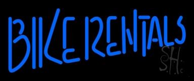 Blue Bike Rentals Neon Sign