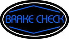 Blue Brake Check Neon Sign