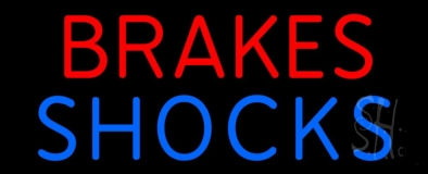 Blue Brakes Shocks LED Neon Sign