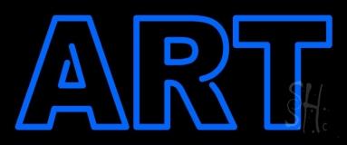 Blue Double Stroke Art Neon Sign