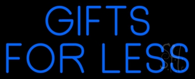 Blue Gifts For Less Block LED Neon Sign