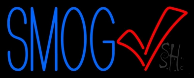 Blue Smog Check With Logo Neon Sign