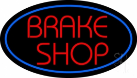 Brake Shop With Oval Neon Sign