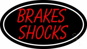 Brakes Shocks With Oval Neon Sign