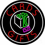 Cards And Gifts Block Logo Neon Sign