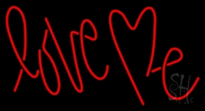 Red Love Me Neon Sign