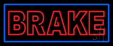 Double Stroke Brake With Border Neon Sign