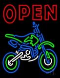 Double Stroke Red Open Bike Logo Neon Sign