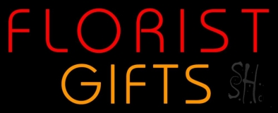 Florists Orange Gifts LED Neon Sign