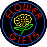Flower Gifts In Block Logo Neon Sign
