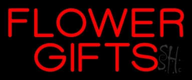 Flower Gifts In Block LED Neon Sign