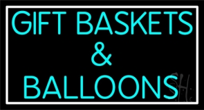 Gift Baskets Balloons With Border Neon Sign