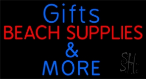 Gifts Blue Beach Supplies Neon Sign