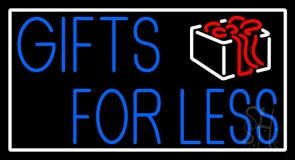 Gifts For Less With Logo Neon Sign