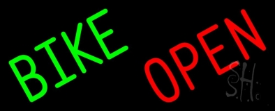Green Bike Open Neon Sign