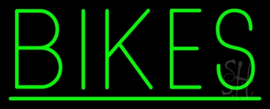 Green Bikes With Line Neon Sign