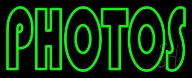 Green Double Stroke Photos Neon Sign