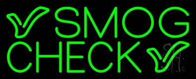 Green Smog Check Neon Sign