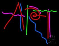 Multicolored Art Neon Sign