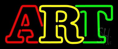 Multicolored Double Stroke Art 1 Neon Sign